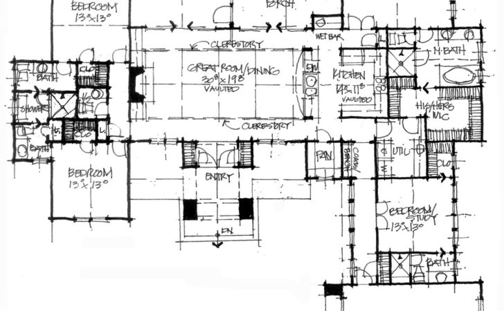 Conceptual House Plan Urban Ranch Houseplansblog
