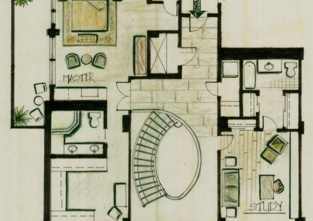 Conceptual Loft Design Boards Second Floor Plan