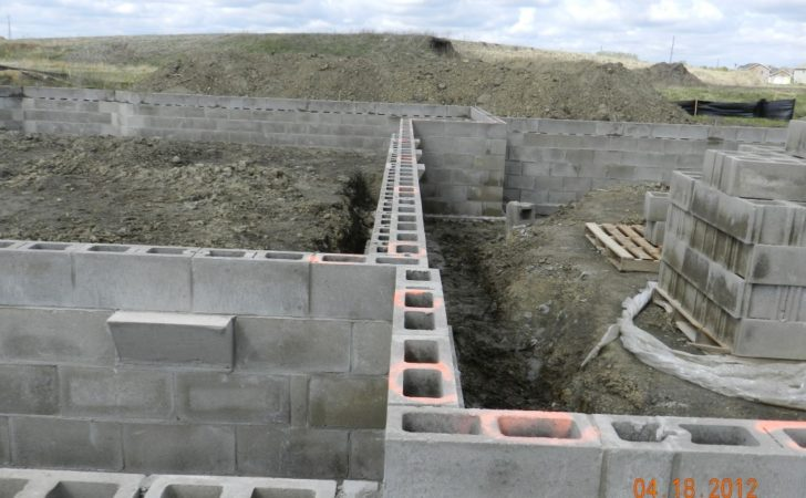 Concrete Block Footings Foundations Pin