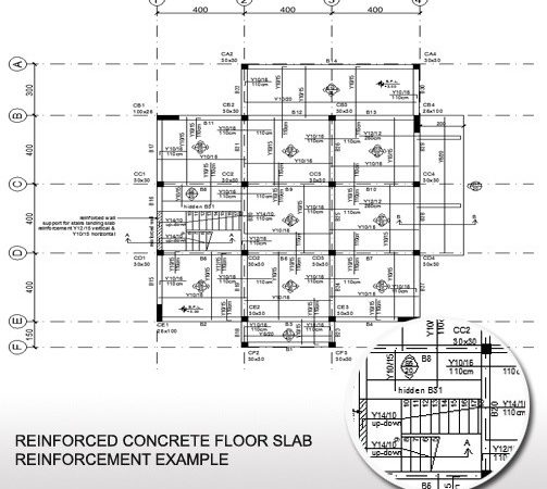 Concrete Floor Slab Reinforcement Example Plan