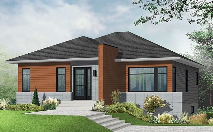 Contemporary Home Plans Modern Empty Nester Plan