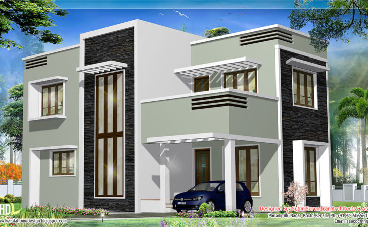 Contemporary Homes Plans Flat Roof House Wonderful