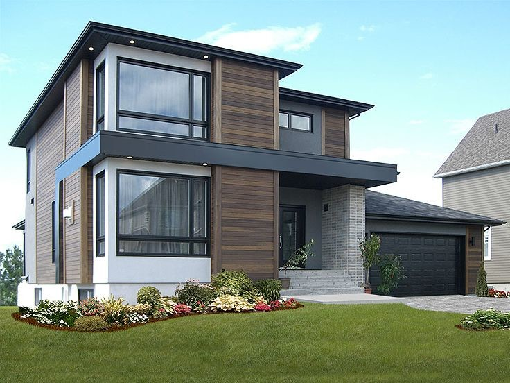 Contemporary House Plans Modern Two Story Home Plan