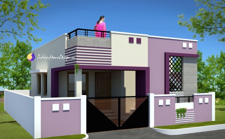Contemporary Low Cost Sqft Bhk Tamil Nadu Small Home