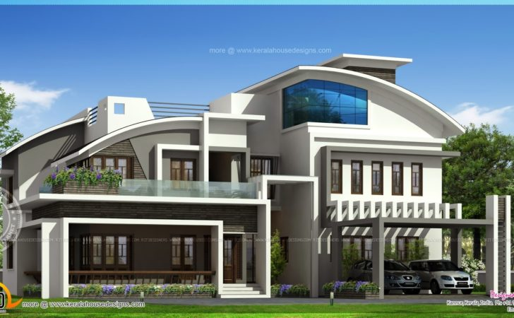Contemporary Luxury House Elevation Square Feet