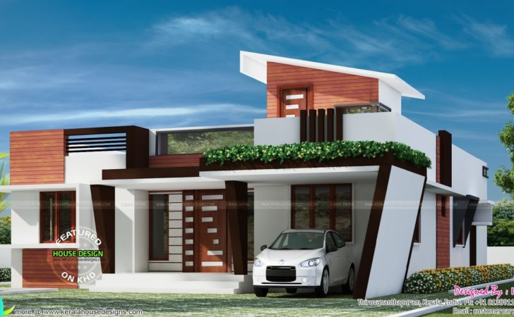 Contemporary One Floor House Kerala Home