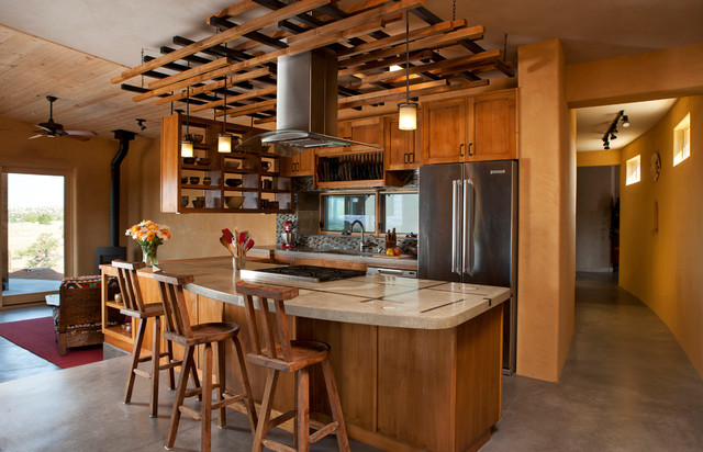 Contemporary Santa Kitchen Southwestern
