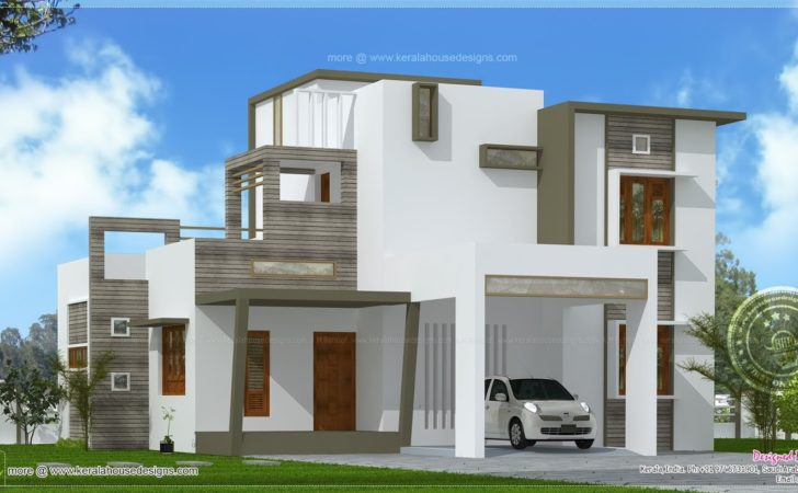 Contemporary Style House Square Feet Kerala Home