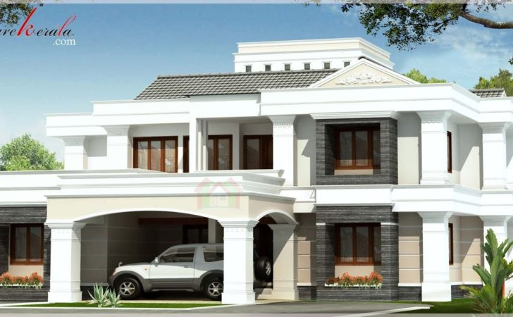 Contemporary Style Kerala House Elevation Architecture