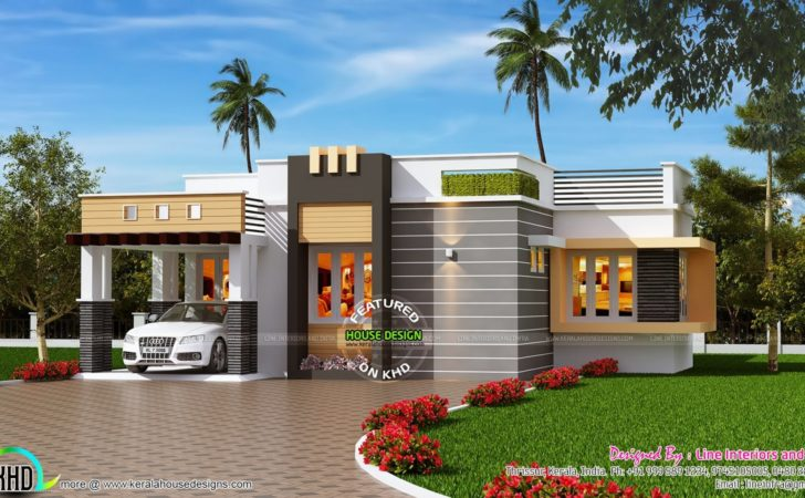 Contemporary Style Small House Kerala Home
