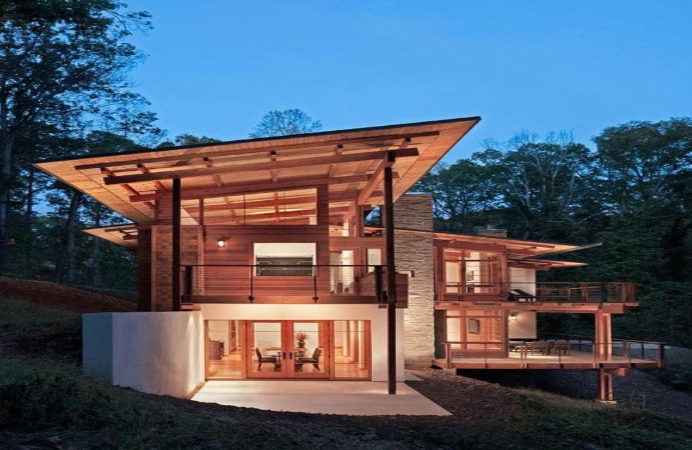 Contemporary Wood House Plans Wooden Home