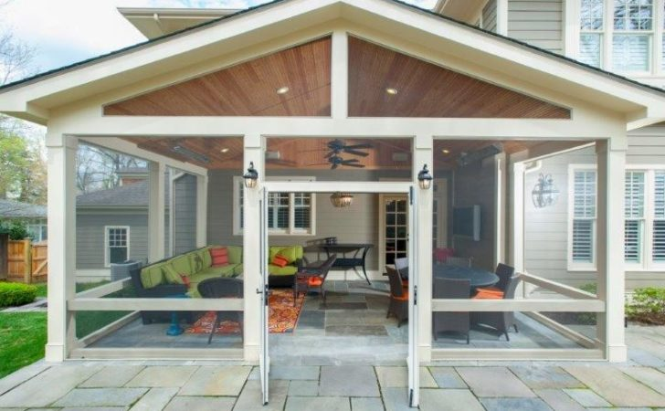 Convert Flagstone Patio Into Screened Porch