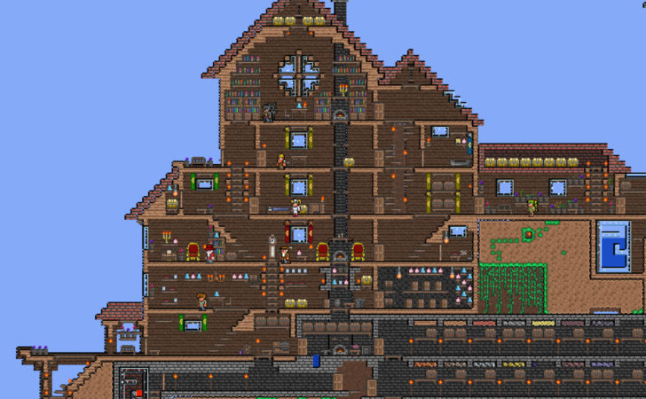 Best Of 7 Images Cool Terraria House Designs - Homes Plans