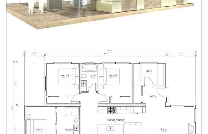 Cottage House Plans Plan Small Simple Floor Cabin Tiny