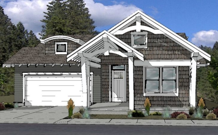 Cottage Style House Plan Bend Oregon Small Stone