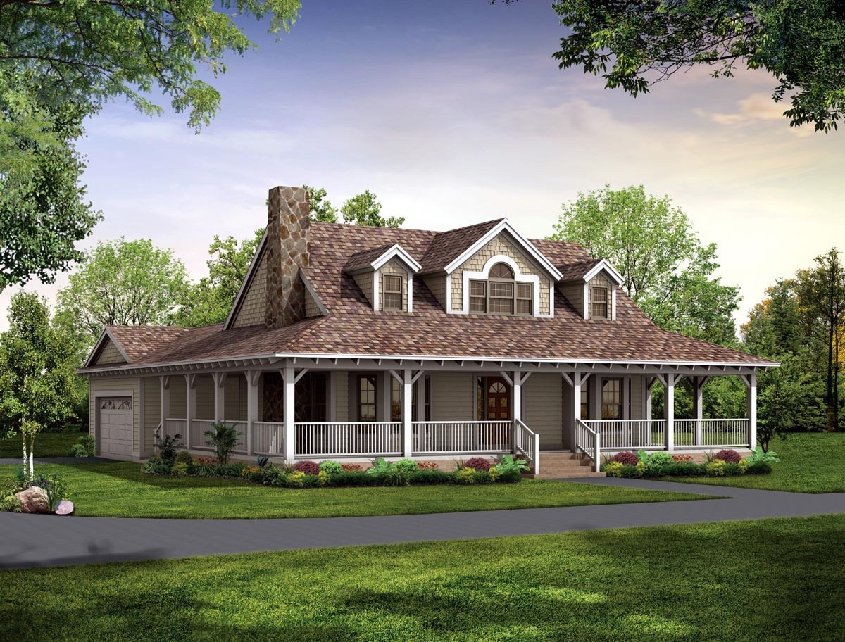 Country Farmhouse Plans Wrap Around Porch