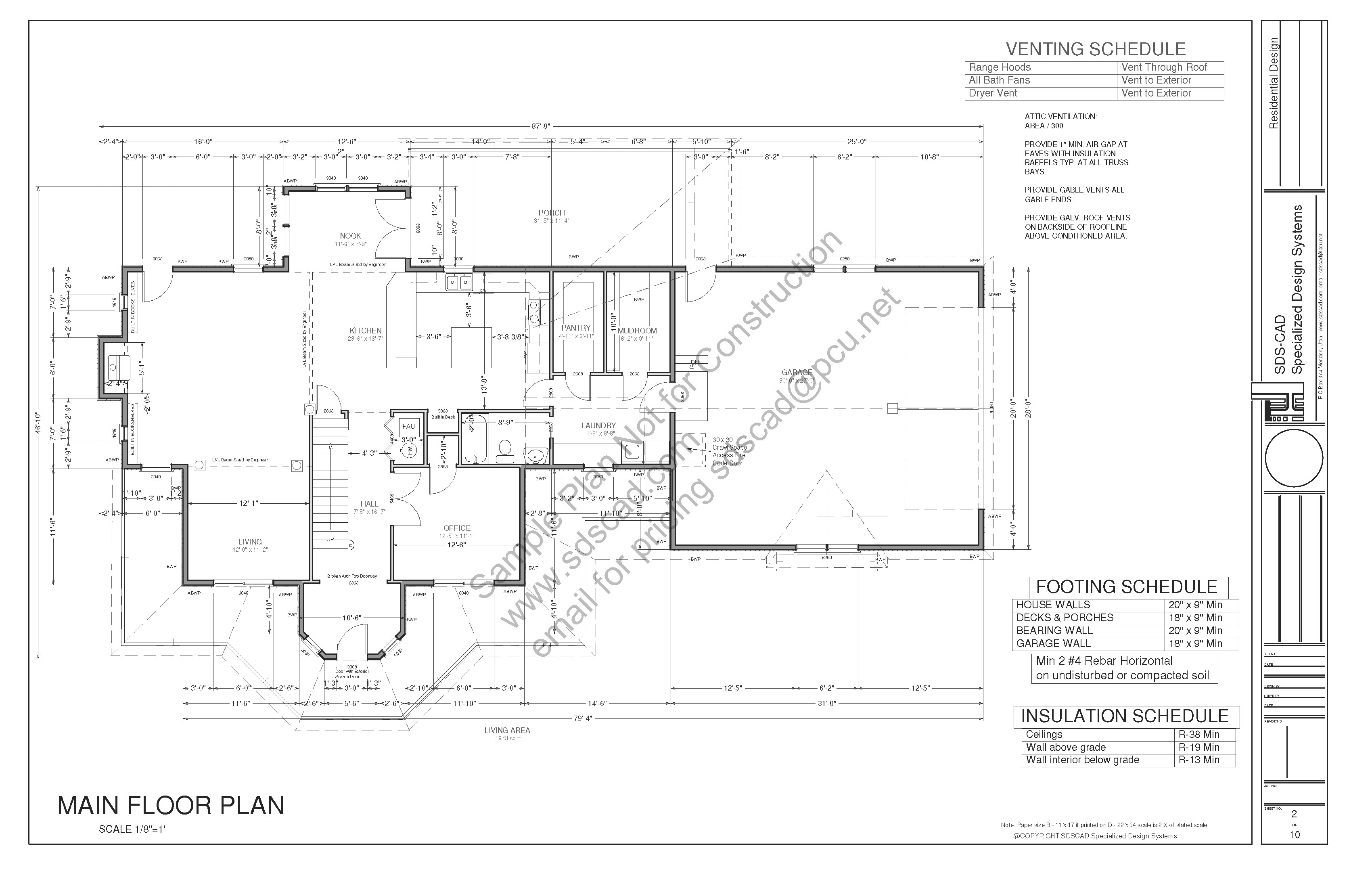 Country Story Porch House Plan Blueprints