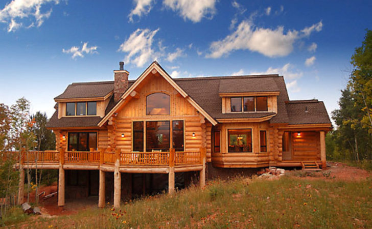 Country Style Handcrafted Log House Dormers Sun