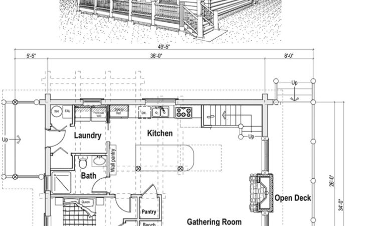 Country Style House Plans Loft Cottage