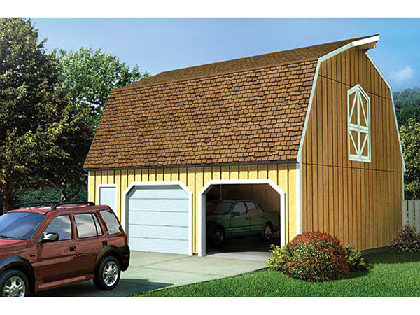 Country Two Car Garage Loft Plans