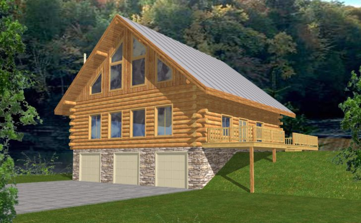 Countryl Log Home Style Cabin