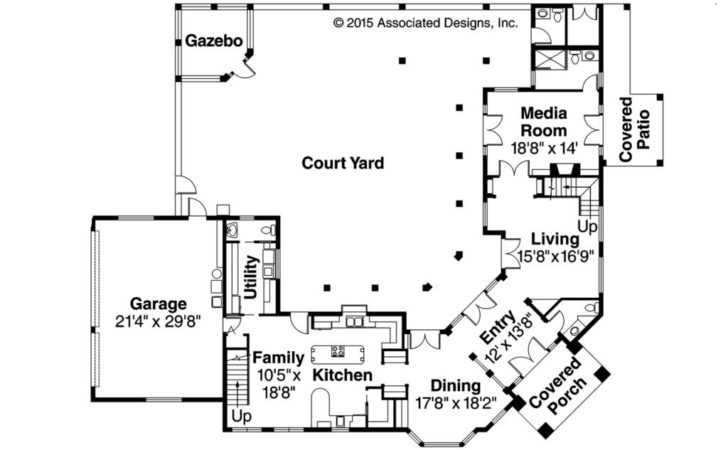 Courtyard House Plans Mexican Style