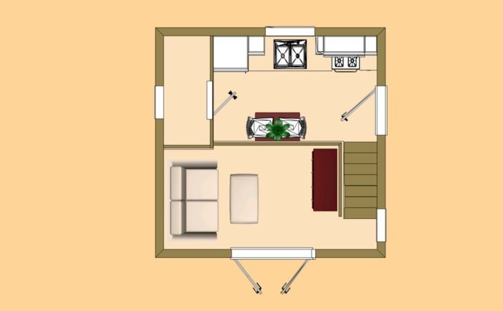 Cozy Cube Small House Floor Plan Home Plans