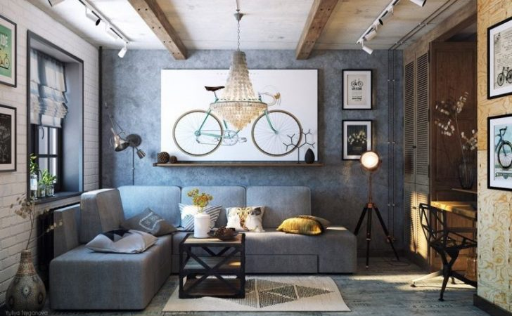 Cozy Industrial Living Room Design Grey Tones Digsdigs