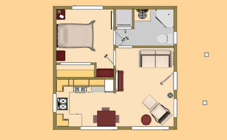 Cozyhomeplans Small House Floor Plan Concept