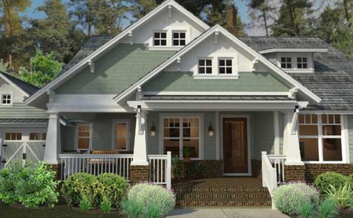 Craftsman Bungalow One Story House Plans Style