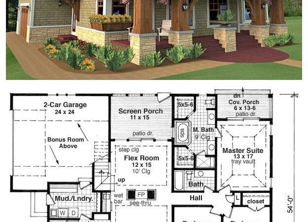Craftsman Bungalow Style Home Plans House Plan