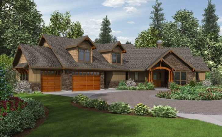 Craftsman House Plans One Story Basement Lovely