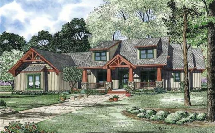 Craftsman Style House Plan Four Bedrooms