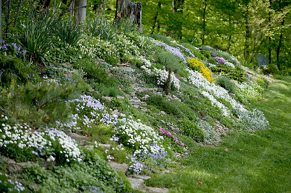 Create Faux Rock Garden Hillside Berm