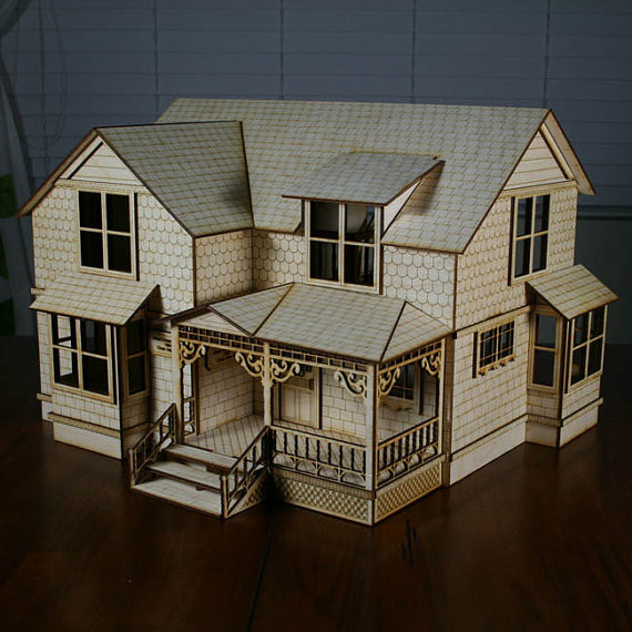 Crockett Victorian Dollhouse Kit Scale