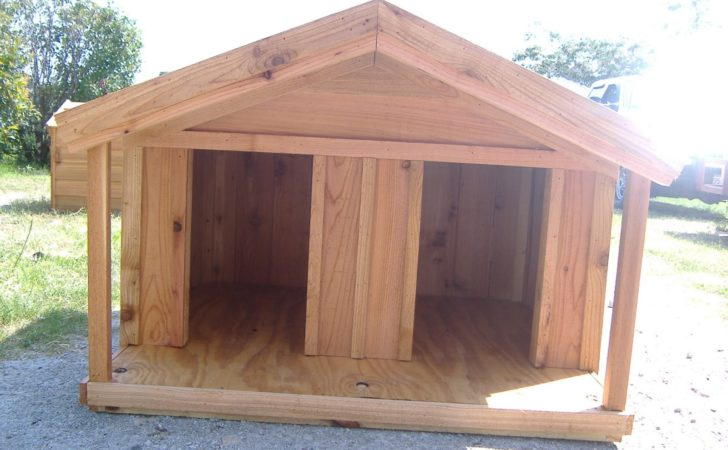 Custom Cedar Dog House Porch Heated