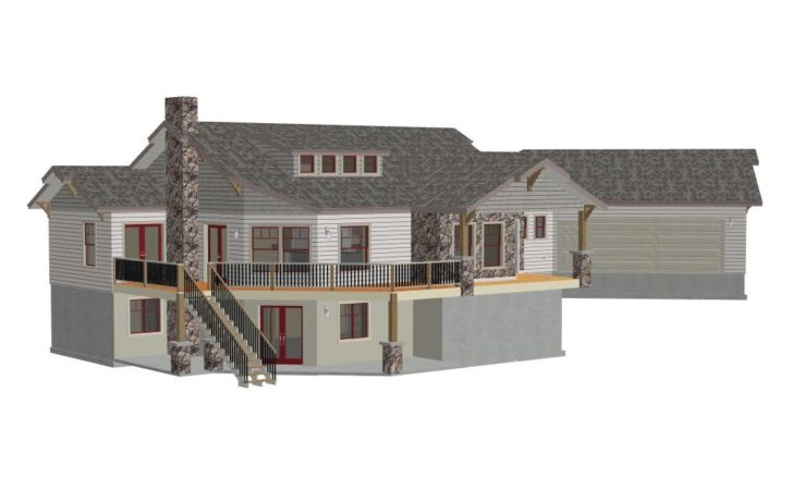Custom Country Hillside House Plans Construction