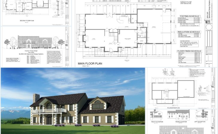 Custom House Plans Country Estate Dwg Pdf Building