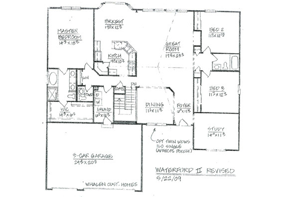 Custom Ranch Floor Plans House
