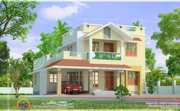 Cute Little Two Storied Home Design Kerala