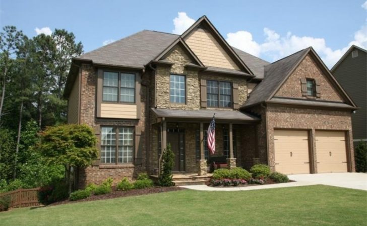 Dallas Home Craftsman Style Stone Brick