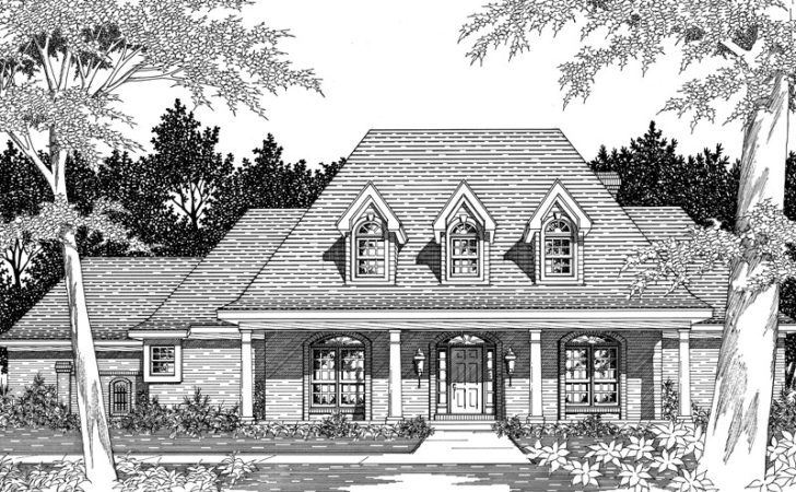 Darvell Southern Plantation Home Plan House