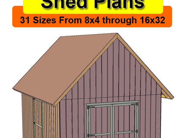 Deluxe Gable Roof Shed Plans Sizes