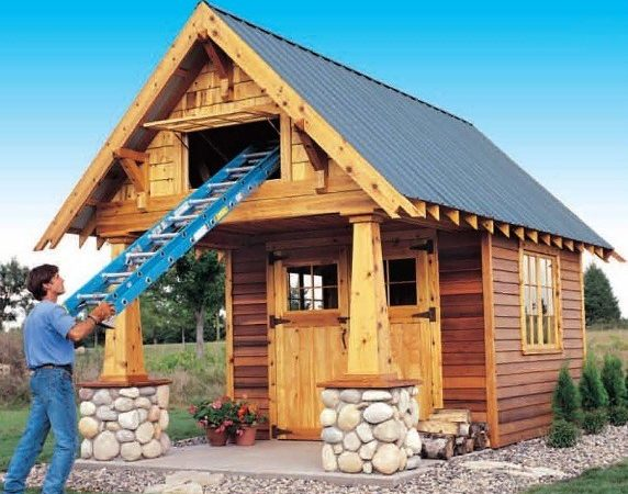 Deluxe Rustic Yard Shed Plans