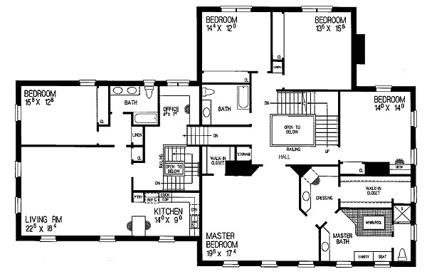 Dignified Manor House Plan Architectural