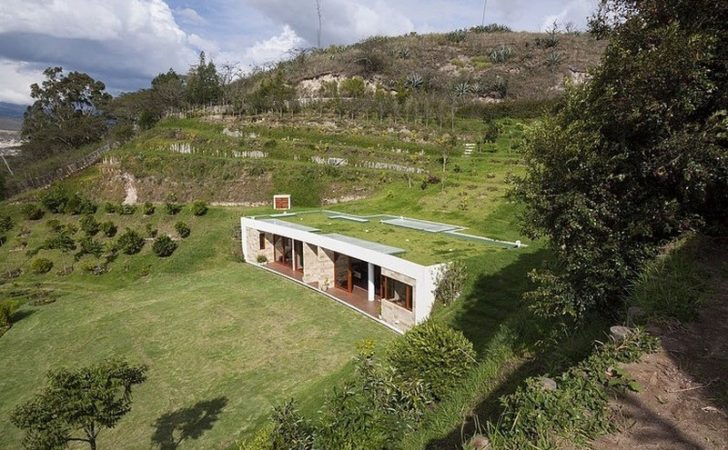 Dissolved Into Landscape Hillside Home Virtually