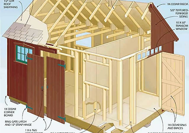 Diy Garden Shed Plan Plans