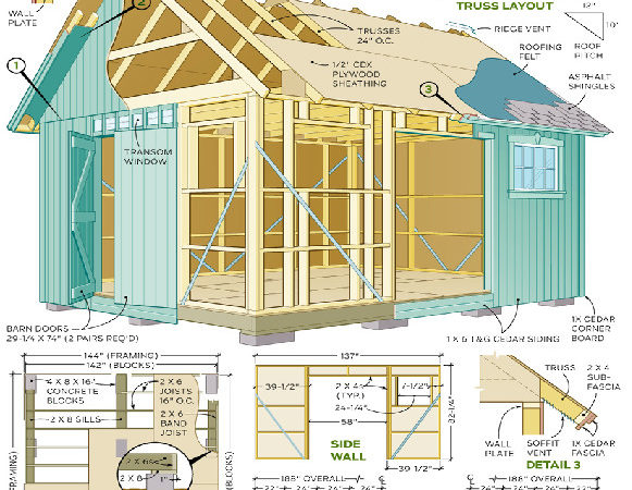 Diy Garden Shed Plans Quick Woodworking Projects