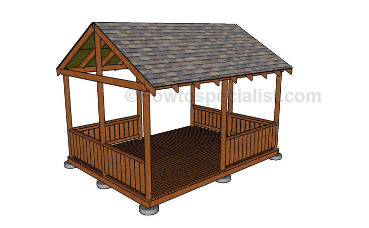 Diy Gazebo Plans Howtospecialist Build Step