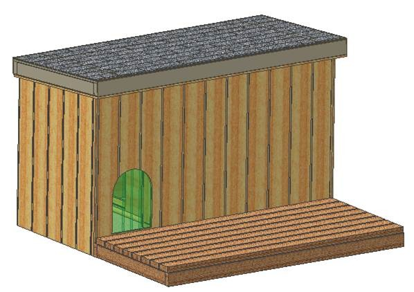 Dog House Plans Total Large Covered Porch